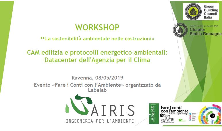 """Grande affluenza ed interesse per il Workshop """"La sostenibilità ambientale nelle costruzioni"""""""