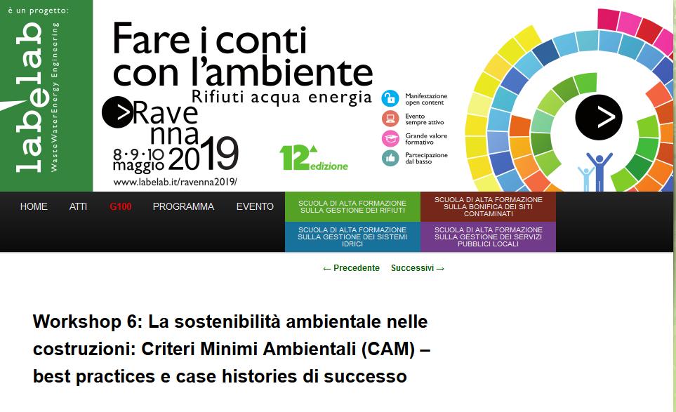 Lorenzo Malucelli di Airis parlerà di sostenibilità ambientale a Ravenna