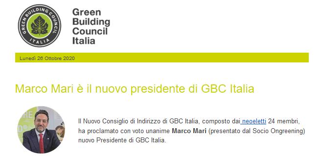 Airis si complimenta con il nuovo Board di GBC Italia
