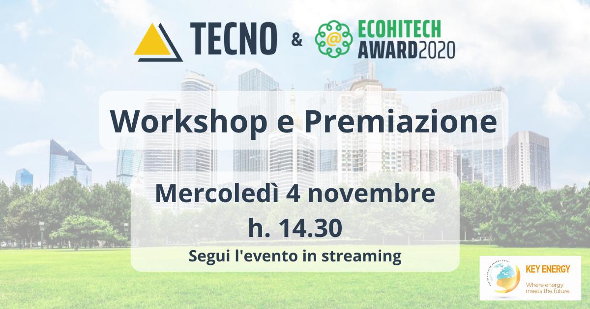 Save the date! Ecohitech Award – 04 Novembre 2020 alle ore 14:30. Workshop e premiazione