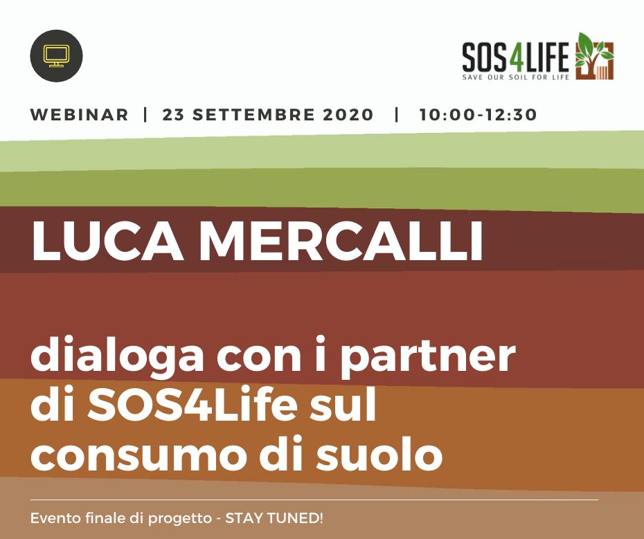 Il 23 settembre si terrà in videoconferenza l'evento finale del progetto SOS4Life sul consumo del suolo