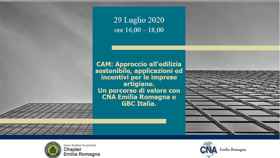 Save the date! Il 29 luglio si terrà il webinar con CNA Bologna sui CAM Edilizia