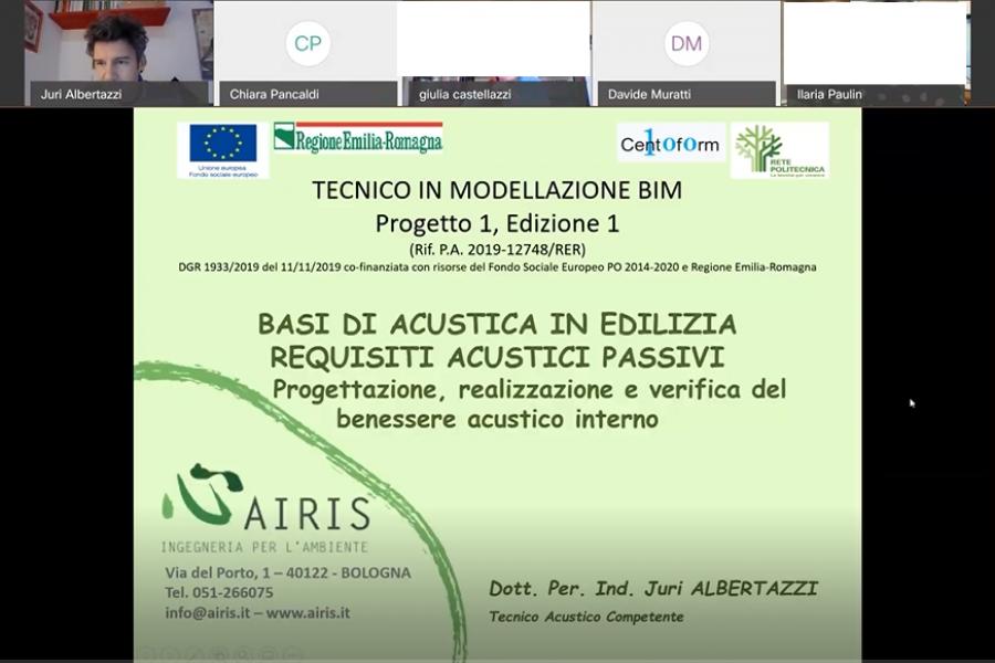 Juri Albertazzi di Airis docente Centoform per il corso BIM
